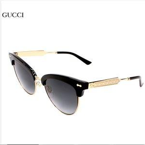 Gucci black gold club master gradient sunglasses